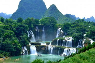 Thác Bản Giốc - Động Ngườm Ngao - Hang Pác Bó - Hồ Ba Bể - Hà Nội (Bao gồm VMB)