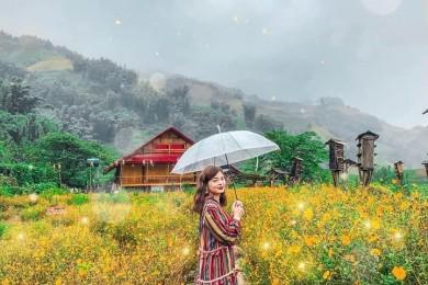 [Đà Lạt] DaLat Fairy Land - Hồ Vô Cực - Thung Lũng Đèn - Hoa Sơn Điền Trang - Quê Garden - Nhà thờ Con Gà - Thác Pongour - Buffer rau không giới hạn